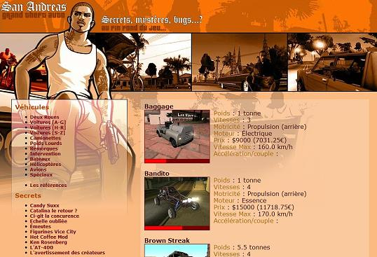 Grand Theft Auto: San Andreas website